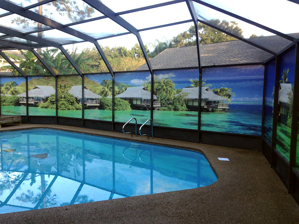 Image gallery lanai privacy for Pool privacy screen
