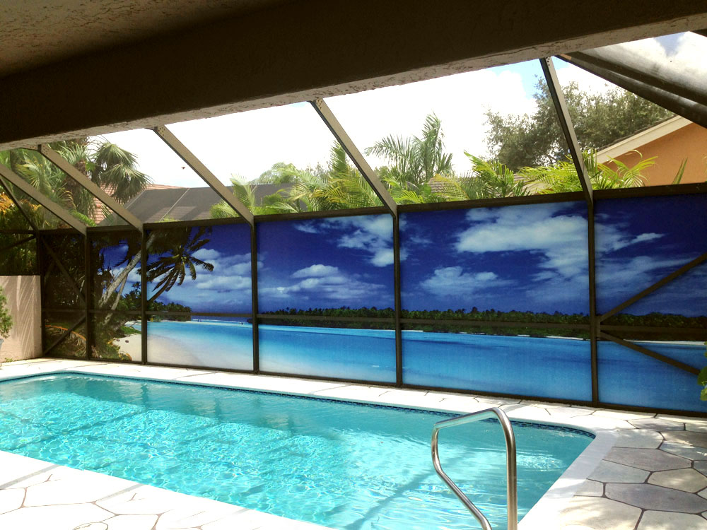 a new take on pool privacy screen