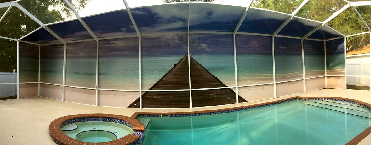 Pool Privacy Screen screens