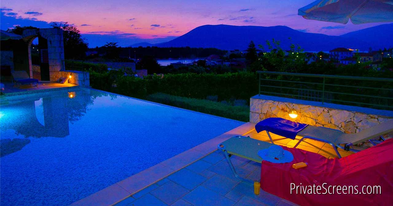 Breathtaking Nighttime Pool Views