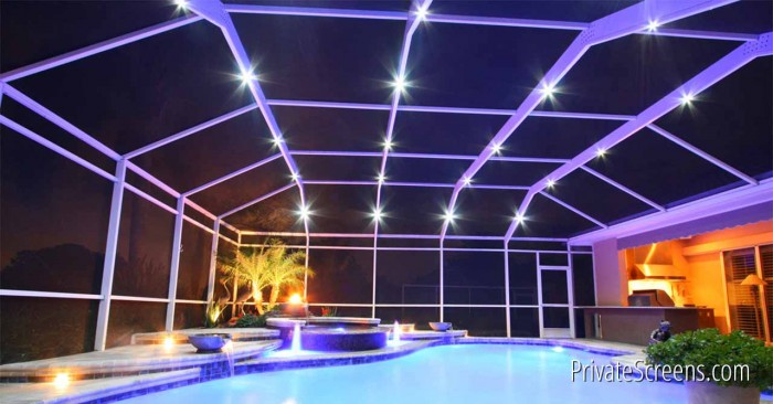 What is Pool Enclosure Lighting?