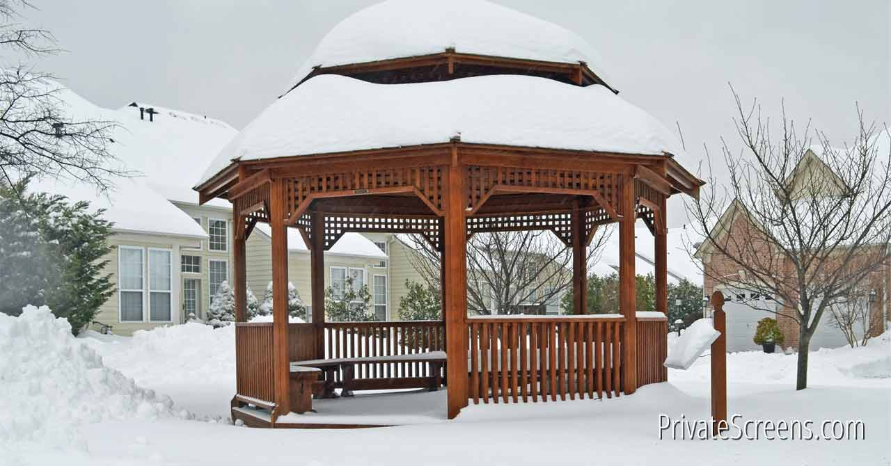 7 ways to stay warm and toasty in your gazebo this winter for Heated gazebo