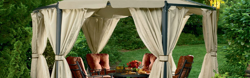 8 Awesome Gazebo Ideas-Fabric gazebos