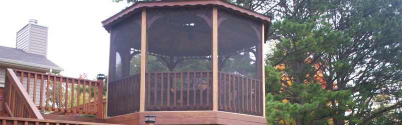 8 Awesome Gazebo Ideas-Fully screened