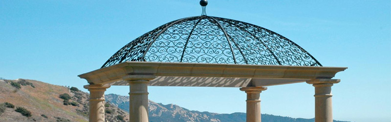 8 Awesome Gazebo Ideas-Wrought iron open dome