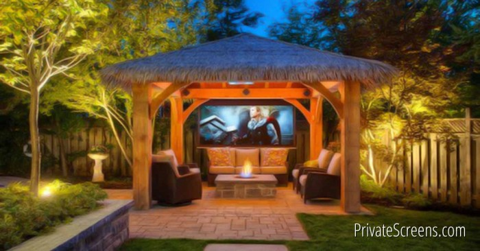 How to Turn Your Gazebo into an Outdoor Theater