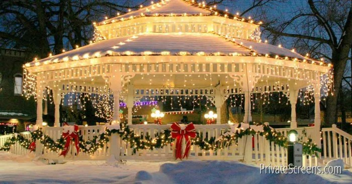 Winter Wonderland How to Stay Warm While Enjoying Your Gazebo This Winter