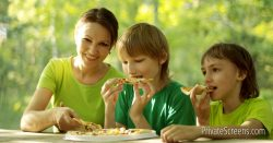 Gazebo + Take Out Pizza = No Fuss Summer Entertainment